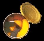 Скачать PNG картинку на прозрачном фоне Апельсин, кубиками и дольками в банке