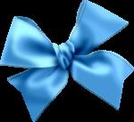 Скачать PNG картинку на прозрачном фоне Бант голубой, нарисованный с прошитыми краями