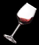 Скачать PNG картинку на прозрачном фоне Бокал с красным вином, под наклоном