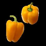 Скачать PNG картинку на прозрачном фоне Два оранжевых болгарских перца