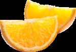 Скачать PNG картинку на прозрачном фоне Две дольки апельсина, рядом, вид сбоку
