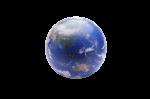 Скачать PNG картинку на прозрачном фоне Глобус без подставки, Австралия и Азия