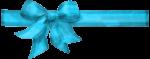 Скачать PNG картинку на прозрачном фоне Голубая лента с бантом