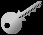 Скачать PNG картинку на прозрачном фоне Ключи серый, нарисованный