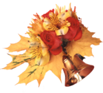 Скачать PNG картинку на прозрачном фоне Колокольчик с цветами и листьями