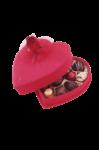 Скачать PNG картинку на прозрачном фоне Коробка конфет в форме сердца, на половину открытая
