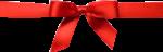 Скачать PNG картинку на прозрачном фоне Красная лента с бантом на середину коробки