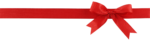 Скачать PNG картинку на прозрачном фоне Красная полоска с красным бантом