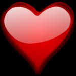 Скачать PNG картинку на прозрачном фоне Красное сердце с бликом, нарисованное
