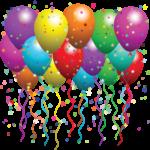 Скачать PNG картинку на прозрачном фоне Много разноцветных шаров, нарисованные с конфетти
