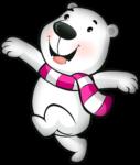 Скачать PNG картинку на прозрачном фоне Мультяшный медвежонок бежит влево