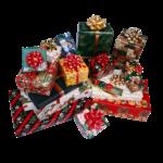 Скачать PNG картинку на прозрачном фоне Набор новогодних (рождественских)подарков