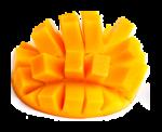 Скачать PNG картинку на прозрачном фоне Нарезанное манго