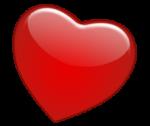 Скачать PNG картинку на прозрачном фоне Нарисованное объемное сердце красного цвета