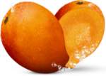 Скачать PNG картинку на прозрачном фоне Нарисованные две половины манго