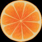 Скачать PNG картинку на прозрачном фоне Половина апельсина, ввид сверху