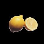 Скачать PNG картинку на прозрачном фоне Половина и целый лимон