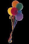 Скачать PNG картинку на прозрачном фоне Разноцветные воздушные шары в связке