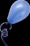Скачать PNG картинку на прозрачном фоне Синий возздушный шар с лентой