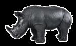 Скачать PNG картинку на прозрачном фоне Статуэтка носорога стоит боком