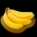 Скачать PNG картинку на прозрачном фоне Связка бананов, вид сбоку