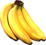 Скачать PNG картинку на прозрачном фоне Связка бананов вид сверху