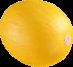 Скачать PNG картинку на прозрачном фоне Желтая дыня