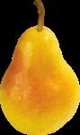 Скачать PNG картинку на прозрачном фоне Желтая груша, стоит