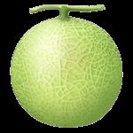 Скачать PNG картинку на прозрачном фоне Зеленая нарисованная дыня, вид сбоку