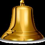 Скачать PNG картинку на прозрачном фоне Золотой колокол, вид сбоку
