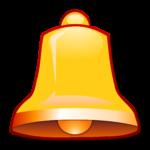 Скачать PNG картинку на прозрачном фоне Золотой колокольчик с красной окантовкой, нарисованнаый