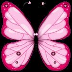 Скачать PNG картинку на прозрачном фоне бабочка розовая, рисунок, вид сверху