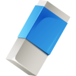 Скачать PNG картинку на прозрачном фоне Белая нарисованная стерка в синей упаковке