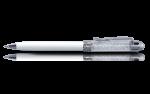 Скачать PNG картинку на прозрачном фоне Белая шариковая ручка, вид сбоку