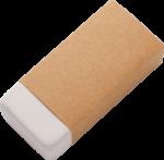 Скачать PNG картинку на прозрачном фоне Белая стерка в бумажной упаковке