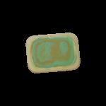 Скачать PNG картинку на прозрачном фоне Бело-зелено оранжевая стерка, с закругленными краями, вид сверху