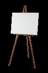 Скачать PNG картинку на прозрачном фоне Белый мольберт на деревянном каркасе