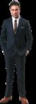 Скачать PNG картинку на прозрачном фоне Бизнесмен в костюме и коричневых туфлях