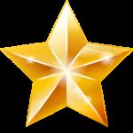 Скачать PNG картинку на прозрачном фоне Блестящая пятиконечная звезда