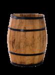 Скачать PNG картинку на прозрачном фоне Бочка деревянная, открытая, вид сбоку