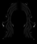 Скачать PNG картинку на прозрачном фоне Брюнетка, волосы нарисованные женские