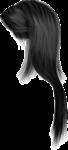 Скачать PNG картинку на прозрачном фоне Брюнетка, женские волосы, вид сбоку, нарисованные