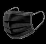 Скачать PNG картинку на прозрачном фоне Черная медицинская маска