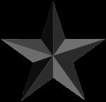 Скачать PNG картинку на прозрачном фоне Черная пятиконечная звезда с гранями