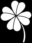 Скачать PNG картинку на прозрачном фоне Четырехлистный клевер, контур