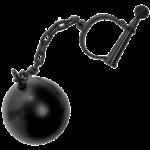 Скачать PNG картинку на прозрачном фоне Цепь черная с кандалом и грузом
