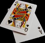 Скачать PNG картинку на прозрачном фоне Дама и туз пик, игральные карты