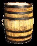 Скачать PNG картинку на прозрачном фоне Деревянная бочка, с черными кольцами