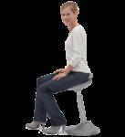 Скачать PNG картинку на прозрачном фоне Девушка в белой кофте сидит