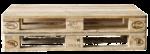 Скачать PNG картинку на прозрачном фоне Два деревянных поддона(палеты), вид сбоку
